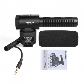 COMICA Shotgun Microphone Condenser Super Cardioid - CVM-V20 - Black - 8