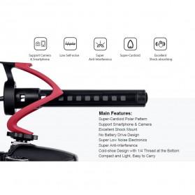 COMICA Shotgun Microphone Condenser Super Cardioid - CVM-V30 LITE - Black - 6