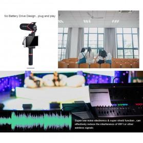 COMICA Shotgun Microphone Condenser Super Cardioid - CVM-V30 LITE - Black - 8