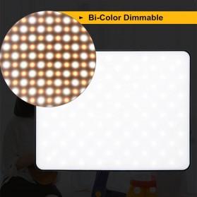 Viltrox Lampu Studio Bi-color Dimmable LED Panel Lighting Kit 75 Inch 3PCS - VL-200T - Black - 4