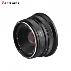7Artisans 25mm F1.8 Manual Focus Prime Fixed Lens for Macro 4/3 - Black - 2