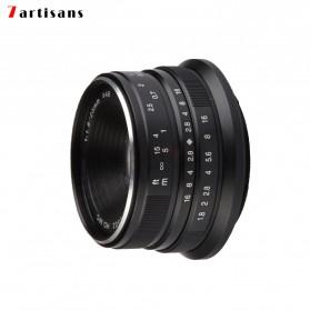7Artisans 25mm F1.8 Manual Focus Prime Fixed Lens for Macro 4/3 - Black - 6