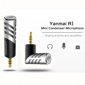 Yanmai Mini Adjustable Microphone 3.5mm - R1 - Black/Silver - 2