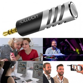 Yanmai Mini Adjustable Microphone 3.5mm - R1 - Black/Silver - 4