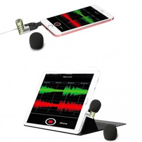 Yanmai Mini Adjustable Microphone 3.5mm - R1 - Black/Silver - 5