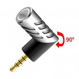 Yanmai Mini Adjustable Microphone 3.5mm - R1 - Black/Silver - 10