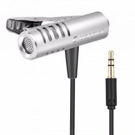 Yanmai Mini Clip-on Omnidirectional Microphone 3.5mm - R993 - Silver - 2