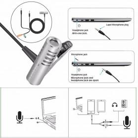 Yanmai Mini Clip-on Omnidirectional Microphone 3.5mm - R993 - Silver - 7