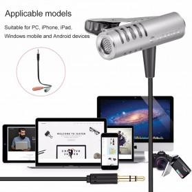 Yanmai Mini Clip-on Omnidirectional Microphone 3.5mm - R993 - Silver - 8
