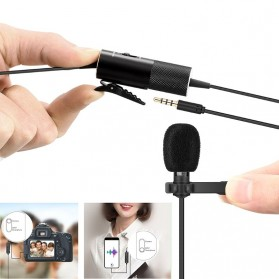 Yanmai Lavalier Omnidirectional Condenser Mini Microphone 3.5mm - R955S - Black - 3