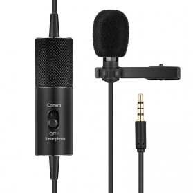 Yanmai Lavalier Omnidirectional Condenser Mini Microphone 3.5mm - R955S - Black - 5