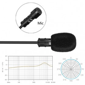 Yanmai Lavalier Omnidirectional Condenser Mini Microphone 3.5mm - R955S - Black - 7