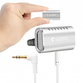 Yanmai Lavalier Mini Clip-on Microphone 3.5mm - R977 - Silver - 2