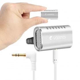 Yanmai Lavalier Mini Clip-on Microphone 3.5mm - R977 - Silver - 2