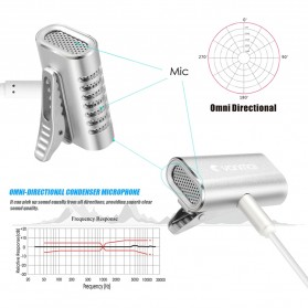 Yanmai Lavalier Mini Clip-on Microphone 3.5mm - R977 - Silver - 3