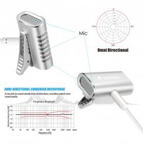 Yanmai Lavalier Mini Clip-on Microphone 3.5mm - R977 - Silver - 3