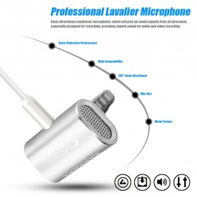 Yanmai Lavalier Mini Clip-on Microphone 3.5mm - R977 - Silver - 5