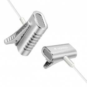 Yanmai Lavalier Mini Clip-on Microphone 3.5mm - R977 - Silver - 11