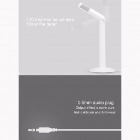 Yanmai Studio Stereo Recording Microphone 120 Degree Rotation Portable 3.5mm - SF-950 - White - 5