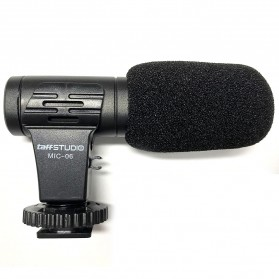 TaffStudio Camera DSLR Shotgun Microphone 3.5mm - MIC-06 - Black