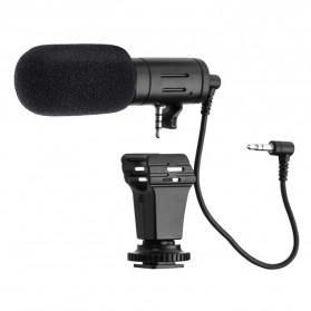 TaffStudio Camera DSLR Shotgun Microphone 3.5mm - MIC-06 - Black - 2
