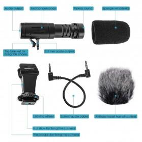 TaffStudio Camera DSLR Shotgun Microphone 3.5mm - MIC-06 - Black - 5