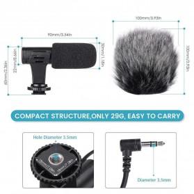 TaffStudio Camera DSLR Shotgun Microphone 3.5mm - MIC-06 - Black - 6