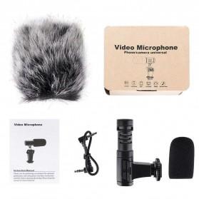 TaffStudio Camera DSLR Shotgun Microphone 3.5mm - MIC-06 - Black - 7