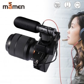 MAMEN Microphone Kamera Stereo Photography Vlog Digital HD Video Recording 3.5mm - MIC-07 - Black - 1