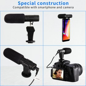 MAMEN Microphone Kamera Stereo Photography Vlog Digital HD Video Recording 3.5mm - MIC-07 - Black - 2