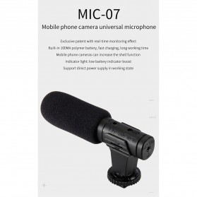 MAMEN Microphone Kamera Stereo Photography Vlog Digital HD Video Recording 3.5mm - MIC-07 - Black - 7