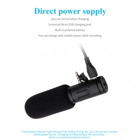 MAMEN Microphone Kamera Stereo Photography Vlog Digital HD Video Recording 3.5mm - MIC-07 - Black - 11