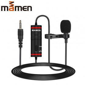 MAMEN Professional Lavalier Microphone Clip Portable 3.5mm - KM-D1 - Black