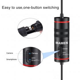 MAMEN Professional Lavalier Microphone Clip Portable 3.5mm - KM-D1 - Black - 3