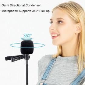 MAMEN Professional Lavalier Microphone Clip Portable 3.5mm - KM-D1 - Black - 4