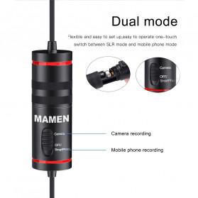 MAMEN Professional Lavalier Microphone Clip Portable 3.5mm - KM-D1 - Black - 6