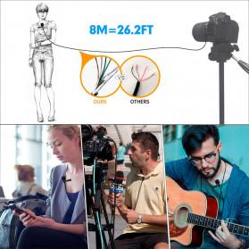 MAMEN Professional Lavalier Microphone Clip Portable 3.5mm - KM-D1 - Black - 8