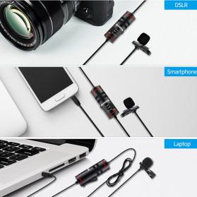 MAMEN Professional Lavalier Microphone Clip Portable 3.5mm - KM-D1 - Black - 11