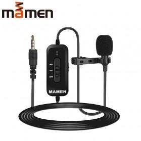MAMEN Professional Lavalier Microphone Clip Portable 3.5mm 8 Meter - KM-D2 - Black