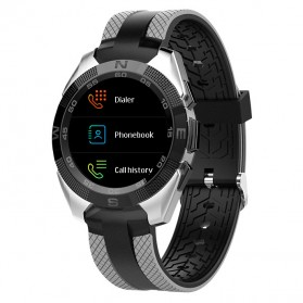 Sporty Smartwatch Jam Tangan Heart Rate Calorie Pedometer - G5 - Black