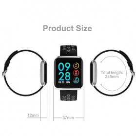 KSUN Smartwatch Sport Fitness Tracker Android iOS - KSS901 - Black/Silver - 7
