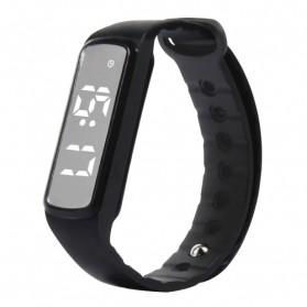 SKMEI Jam Tangan LED Sport Bracelet Pedometer - CD5-L - Black