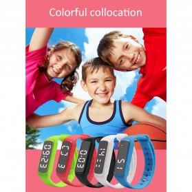SKMEI Jam Tangan LED Sport Bracelet Pedometer - CD5-L - Black - 6