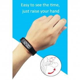 SKMEI Jam Tangan LED Sport Bracelet Pedometer - CD5-L - Black - 7