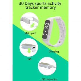 SKMEI Jam Tangan LED Sport Bracelet Pedometer - CD5-L - Black - 9