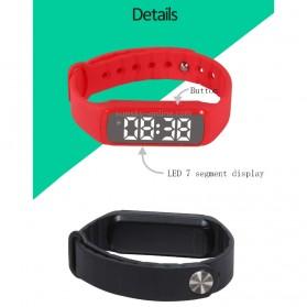 SKMEI Jam Tangan LED Sport Bracelet Pedometer - CD5-L - Black - 10