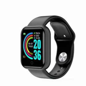 Smartwatch Sport Fitness Bracelet Activity Tracker Android iOS - Y68 - Black - 2