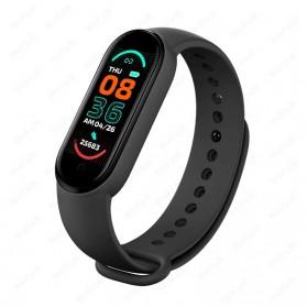 UOJSJK Smartwatch Sport Fitness Bracelet Activity Tracker Android iOS - M6 - Black