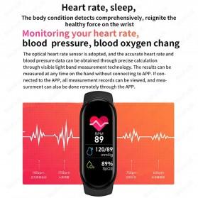 UOJSJK Smartwatch Sport Fitness Bracelet Activity Tracker Android iOS - M6 - Black - 10