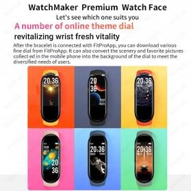 UOJSJK Smartwatch Sport Fitness Bracelet Activity Tracker Android iOS - M6 - Black - 11
